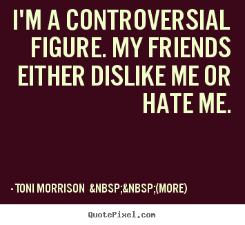 Quote about friendship - I'm a controversial figure. my friends either dislike me..