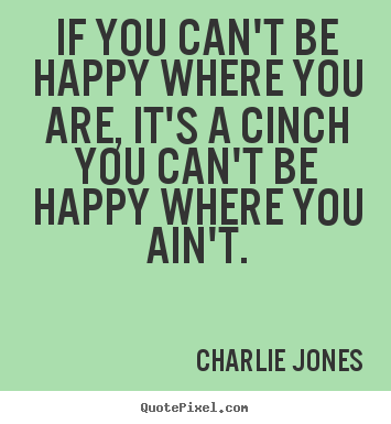 Make picture quotes about inspirational - If you can't be happy where you are, it's a..