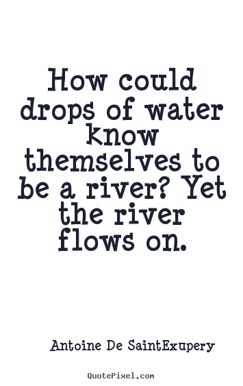 Life quotes - How could drops of water know themselves to be a river?..
