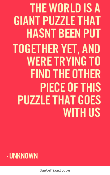 Puzzle Quotes New Life Puzzle Quotes